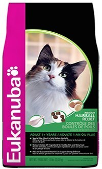 Eukanuba cat hairball