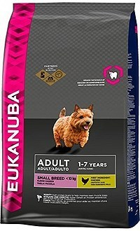 Eukanuba adult small breed para perros de raza pequeña con pollo