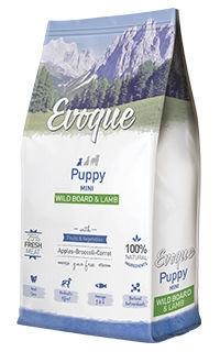Evoque puppy mini wild board lamb, con 25% cordero y jabalí