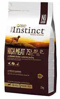 Instinct high meat pollo dog adult medium max Telepiensoscanarias