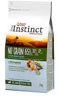 Instinct no grain dog junior medium salmon Telepiensoscanarias
