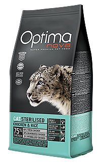 Optima nova para gatos adultos esterilizados con pollo y arroz