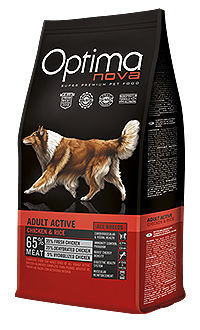 Optima Nova dog active chicken rice TelepiensosCanarias