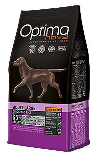 Optima Nova dog adult large chicken rice TelepiensosCanarias