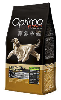 Optima Nova dog adult medium chicken potato TelepiensosCanarias