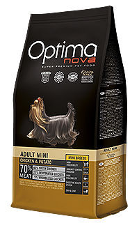 Optima Nova dog adult mini chicken potato TelepiensosCanarias
