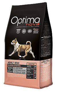 Optima Nova dog adult mini salmon potato TelepiensosCanarias
