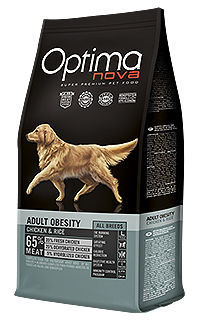 Optima Nova dog adult obesity chicken rice TelepiensosCanarias