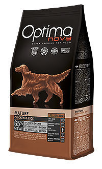 Optima Nova dog mature chicken rice TelepiensosCanarias