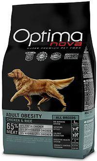 Optima nova adult obesity con pollo y arroz pienso para perros con sobrepeso