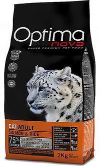Optima nova para gatos con salmón y arroz con actividad física normal