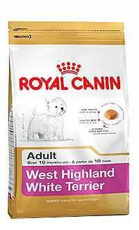 Royal Canin raza west highland white terrier Telepiensoscanarias